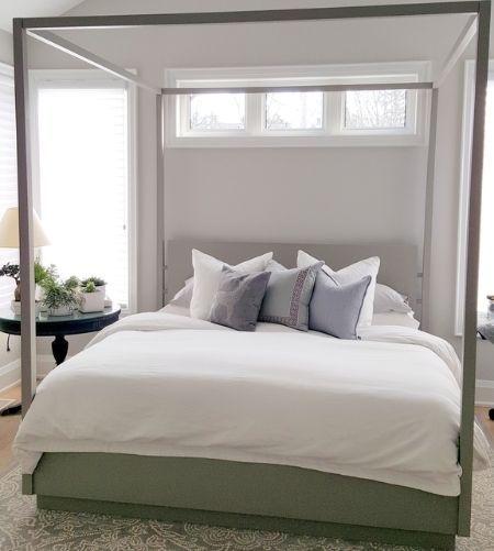 Low EMF solid ash canopy bed