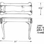 Queen Anne Hall table drawing